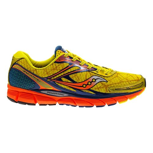 Mens Saucony Breakthru Running Shoe - Yellow/Blue 8.5
