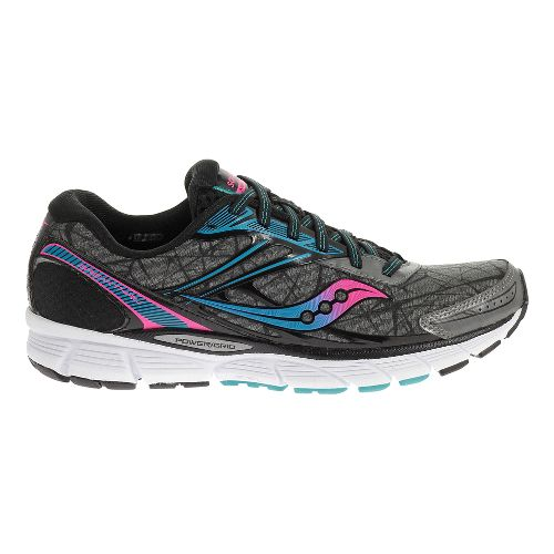 Womens Saucony Breakthru Running Shoe - Blue/ViziOrange 5.5