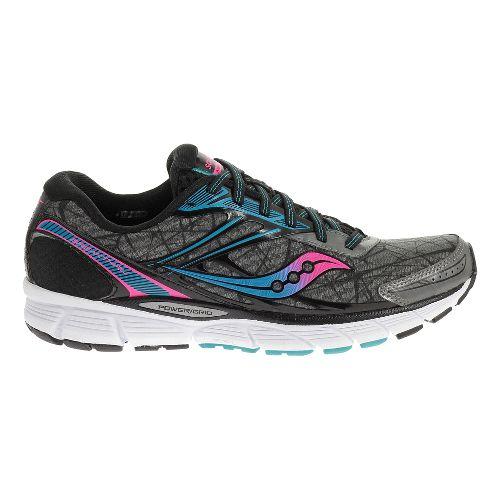 Womens Saucony Breakthru Running Shoe - Blue/ViziOrange 7