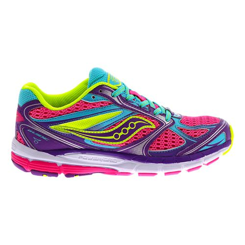 Kids Saucony Guide 8 Running Shoe - Pink/Purple 2.5