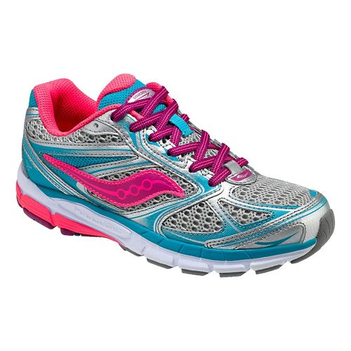Kids Saucony Guide 8 Running Shoe - Pink/Purple 4