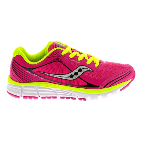 Kids Saucony Kinvara 5 Running Shoe - Pink/Black 10C