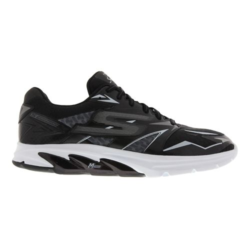 Mens Skechers GO Run Strada Running Shoe - Black / White 6.5