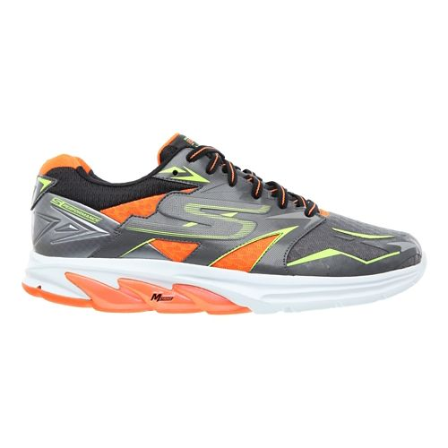 Mens Skechers GO Run Strada Running Shoe - Charcoal / Orange 9