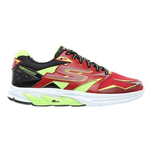 Mens Skechers GO Run Strada Running Shoe - Red / Lime 14