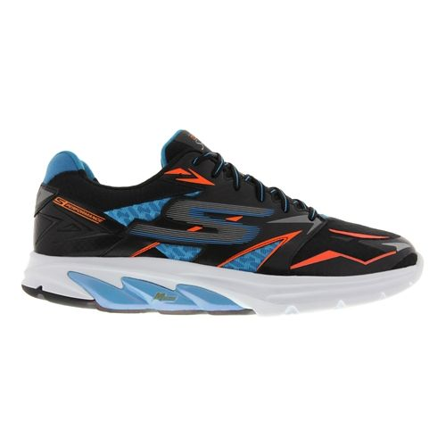 Mens Skechers GO Run Strada Running Shoe - Black / Blue 12.5
