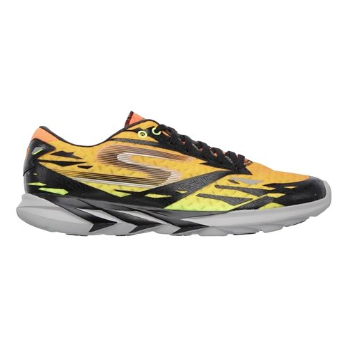 Mens Skechers GO Meb Speed 3 Running Shoe - Black / Orange 9.5