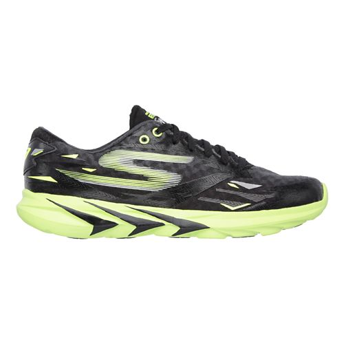 Mens Skechers GO Meb Speed 3 Running Shoe - Black / Green 12.5