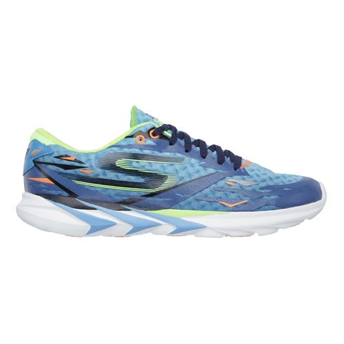 Mens Skechers GO Meb Speed 3 Running Shoe - Blue / Lime 12.5