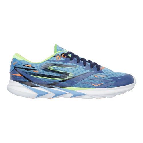 Mens Skechers GO Meb Speed 3 Running Shoe - Blue / Lime 7.5