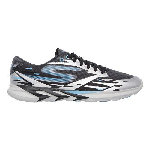Mens Skechers GO Meb Speed 3 Running Shoe - Black / Blue 10