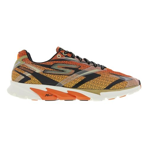 Mens Skechers GO Run 4 Running Shoe - Black / Orange 7