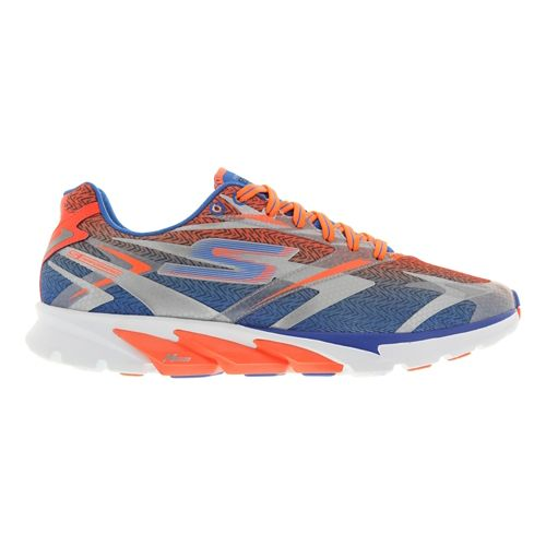 Mens Skechers GO Run 4 Running Shoe - Blue / Orange 12.5