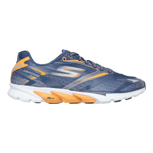 Mens Skechers GO Run 4 Running Shoe - Navy/Orange 8