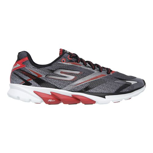 Mens Skechers GO Run 4 Running Shoe - Red / Black 9