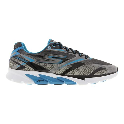 Mens Skechers GO Run 4 Running Shoe - Black / Blue 9.5