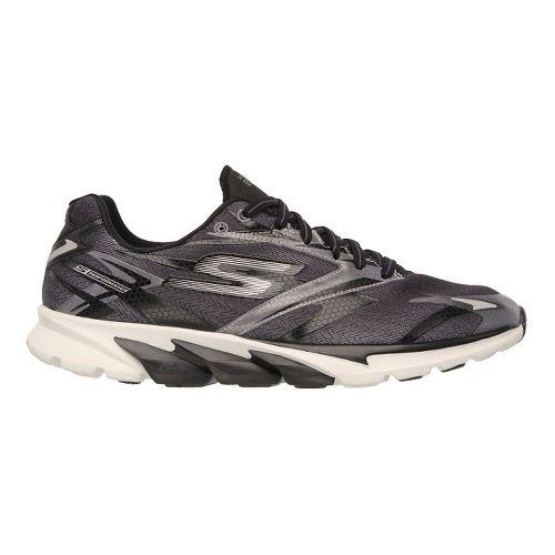 Mens Skechers GO Run 4 Running Shoe - Black / Orange 8