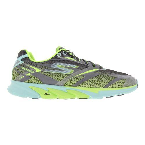Womens Skechers GO Run 4 Running Shoe - Charcoal / Aqua 5.5