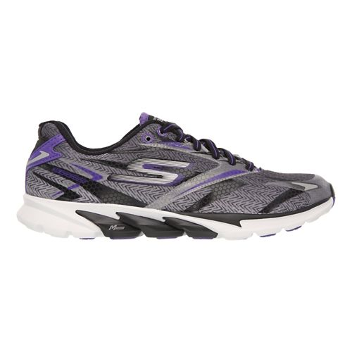 Womens Skechers GO Run 4 Running Shoe - Black / Purple 7