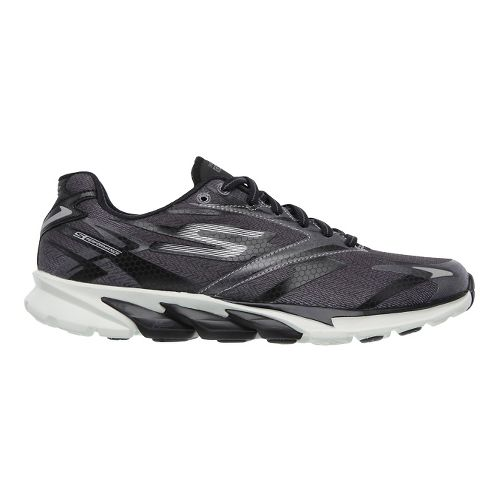 Womens Skechers GO Run 4 Running Shoe - Black / Purple 7.5