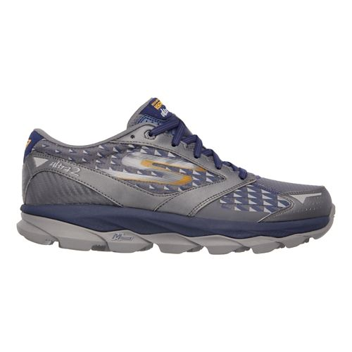 Mens Skechers GO Run Ultra 2 Running Shoe - Charcoal / Navy 12.5