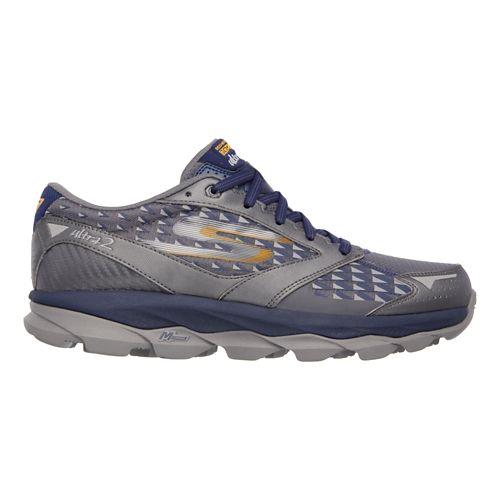 Mens Skechers GO Run Ultra 2 Running Shoe - Charcoal / Navy 7