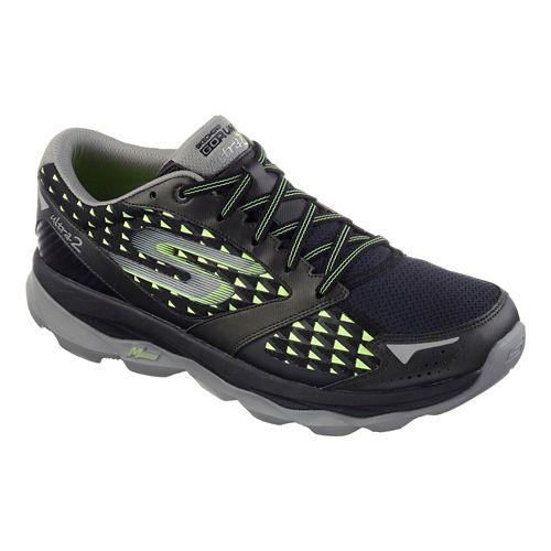 Mens Skechers GO Run Ultra 2 Running Shoe - Black / Lime 13