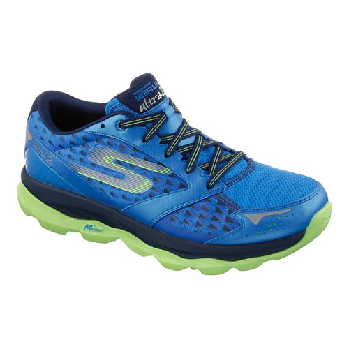 Mens Skechers GO Run Ultra 2 Running Shoe - Blue / Lime 10
