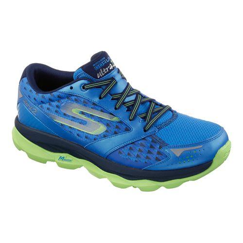 Mens Skechers GO Run Ultra 2 Running Shoe - Blue / Lime 14