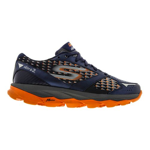 Mens Skechers GO Run Ultra 2 Running Shoe - Navy / Orange 6.5