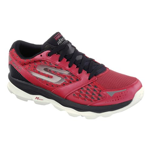 Mens Skechers GO Run Ultra 2 Running Shoe - Red / Black 9