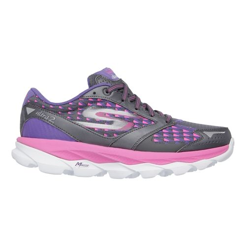 Womens Skechers GO Run Ultra 2 Running Shoe - Charcoal / Hot Pink 7.5