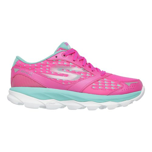 Womens Skechers GO Run Ultra 2 Running Shoe - Hot Pink / Aqua 8.5