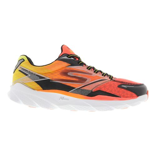 Mens Skechers GO Run Ride 4 Running Shoe - Orange / Black 10.5
