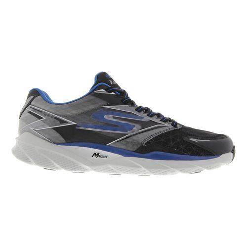 Mens Skechers GO Run Ride 4 Running Shoe - Black / Blue 9.5