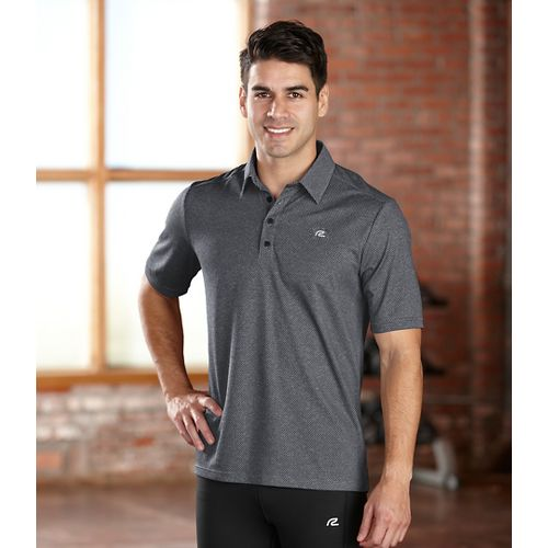 Mens R-Gear Powerhouse Polo Short Sleeve Technical Tops - Black XL