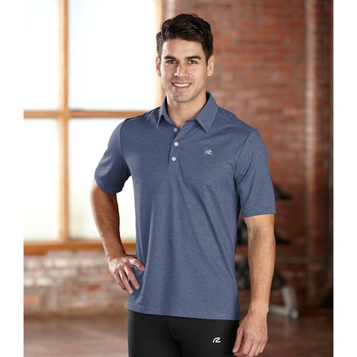 Mens R-Gear Powerhouse Polo Short Sleeve Technical Tops - Slate Blue XL