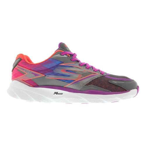 Womens Skechers GO Run Ride 4 Running Shoe - Charcoal / Purple 11
