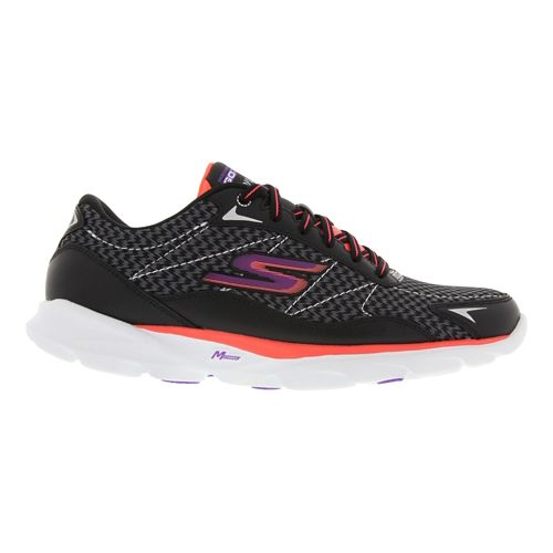 Womens Skechers GO Run Soinc 2 Running Shoe - Black / White 6