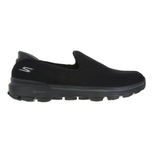 Mens Skechers GO Walk 3 Walking Shoe - Charcoal / Orange 7.5