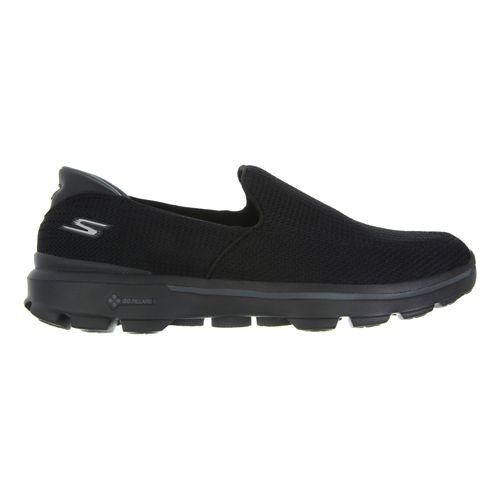 Mens Skechers GO Walk 3 Walking Shoe - Charcoal / Orange 8.5