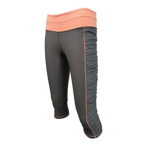 Womens De Soto Femme Run Knicker Capri Tights - Graphite/Orange XS