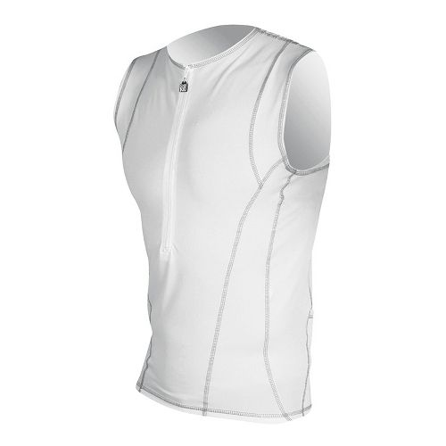 Mens De Soto SDS Tri Jersey Sleeveless Technical Top - White S