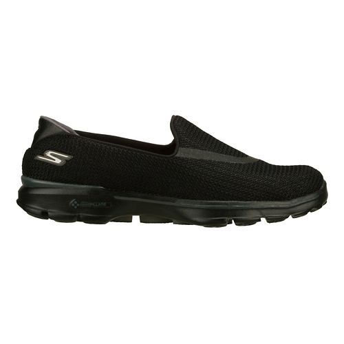 Womens Skechers GO Walk 3 Walking Shoe - Black 6