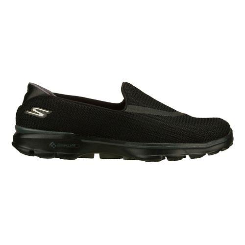 Womens Skechers GO Walk 3 Walking Shoe - Black/White 6.5