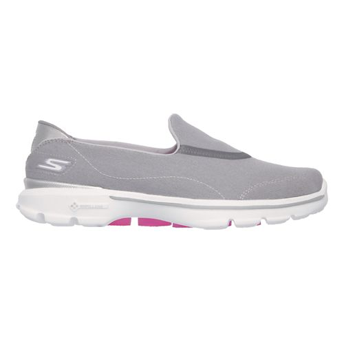 Womens Skechers GO Walk 3 Walking Shoe - Gray 6
