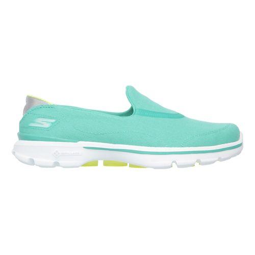 Womens Skechers GO Walk 3 Walking Shoe - Aqua 6.5