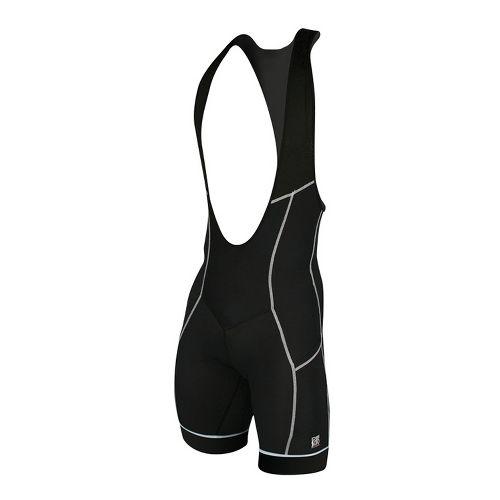 Mens De Soto Carrera Bib Short Triathlete UniSuits - Black/White XL