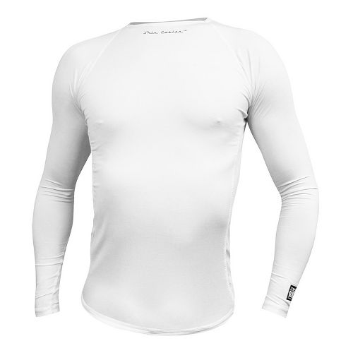 Mens De Soto SDS Long Sleeve No Zip Technical Top - White S