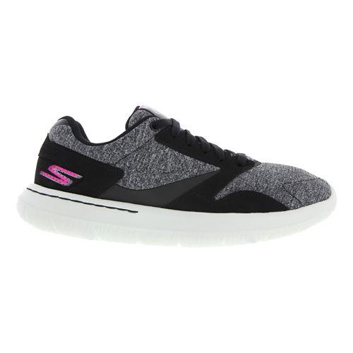 Womens Skechers GO Walk City Walking Shoe - Navy / Lime 5.5